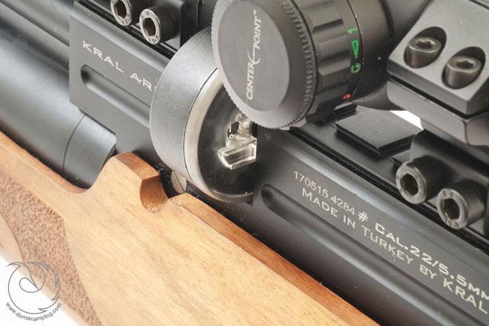 سیستم نشانه روی تفنگ pcp کرال پانچر مگا w