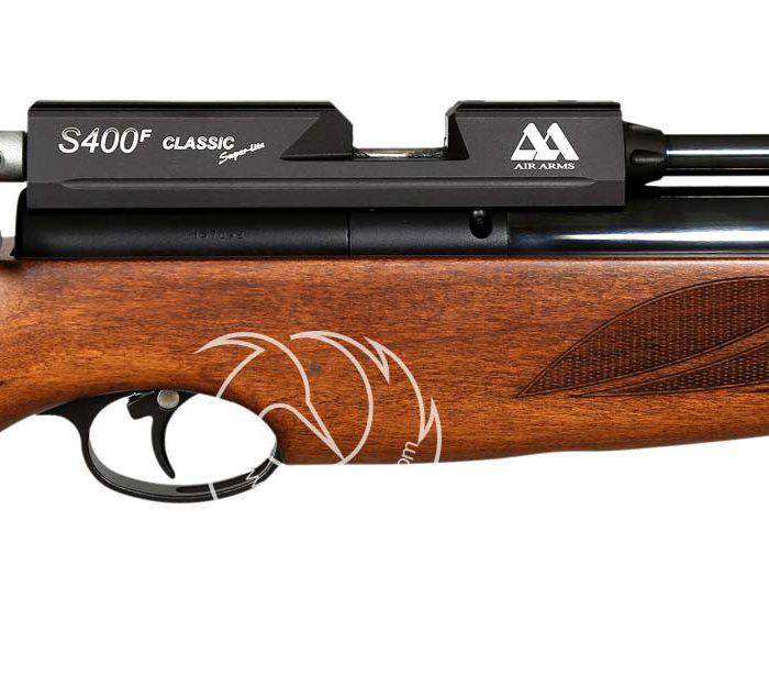 خرید تفنگ بادی PCP ایرآرمز S400 F کلاسیک قهوه ای