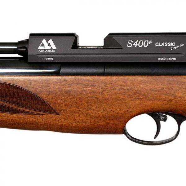 قیمت تفنگ بادی PCP ایرآرمز S400 F کلاسیک قهوه ای