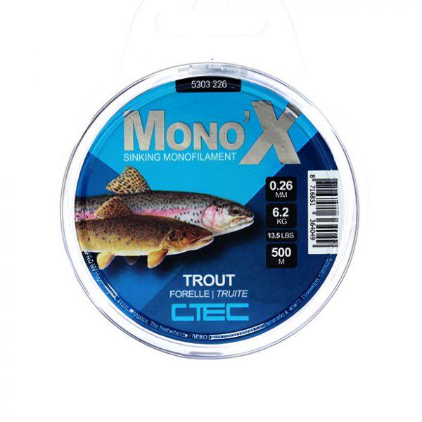 خرید نخ ماهیگیری اسپرو مونو Trout 0.26