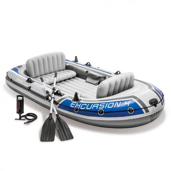قایق بادی اینتکس Excursion 4 به همرا پمپ و پارو